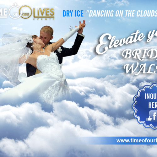 Time of Our Lives Events. Dry Ice Machine hire Sydney. Wedding decor effect