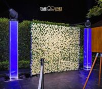 Cheap Photo booth Flower Wall backdrop hire Sydney
