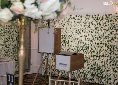 Cheap Photo Booth & Flower Wall package